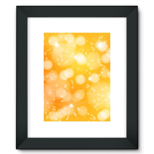 Blurred Sunshine Bubbles Framed Fine Art Print 12X16 / Black Wall Decor