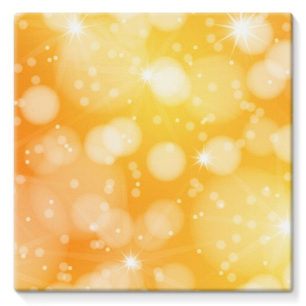 Blurred Sunshine Bubbles Stretched Canvas 10X10 Wall Decor