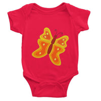 Blurry Butterfly Baby Bodysuit 0-3 Months / Red Apparel