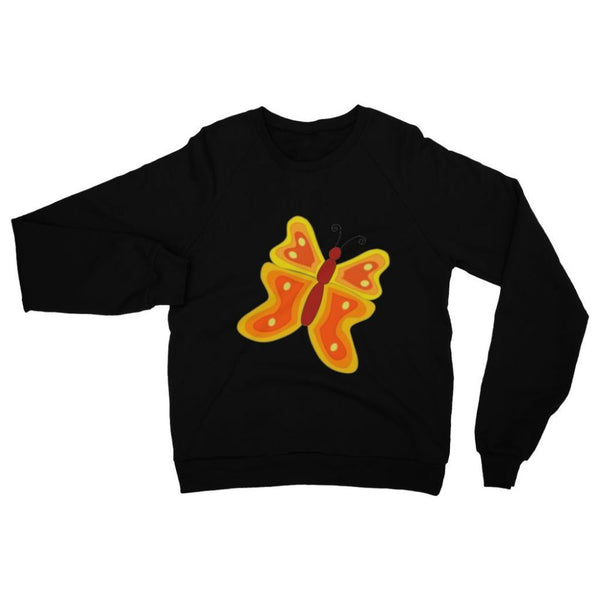Blurry Butterfly Heavy Blend Crew Neck Sweatshirt S / Black Apparel