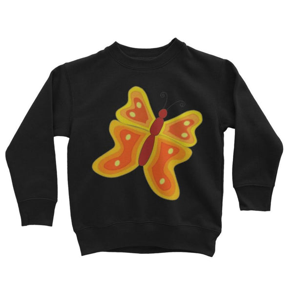 Blurry Butterfly Kids Sweatshirt 3-4 Years / Jet Black Apparel