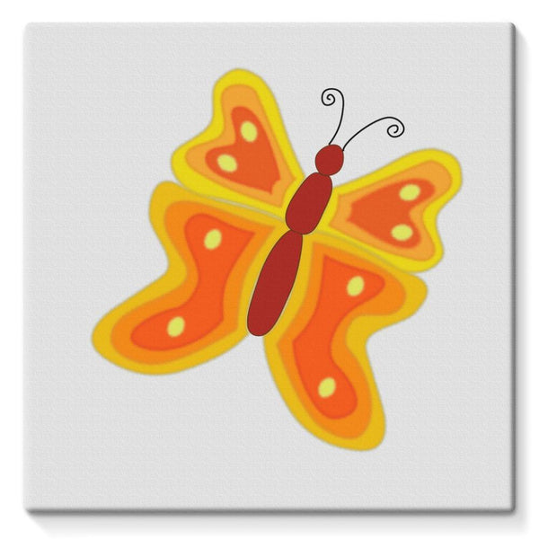 Blurry Butterfly Stretched Eco-Canvas 10X10 Wall Decor