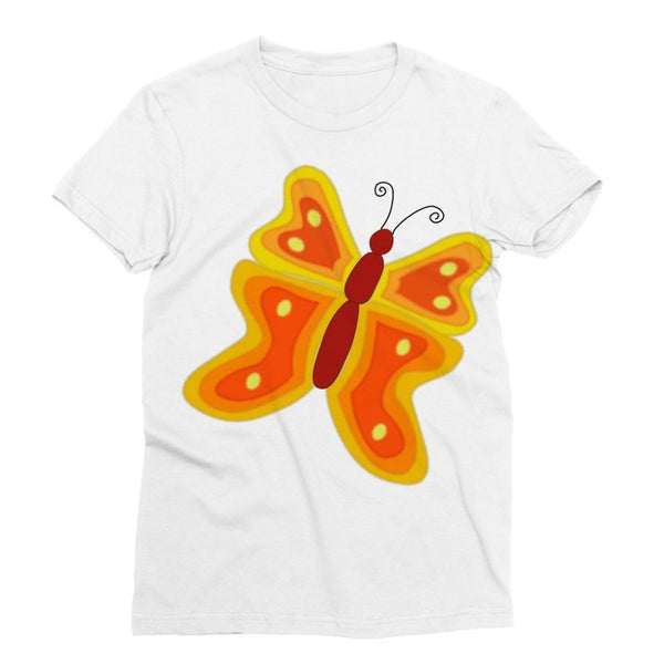 Blurry Butterfly Sublimation T-Shirt S Apparel