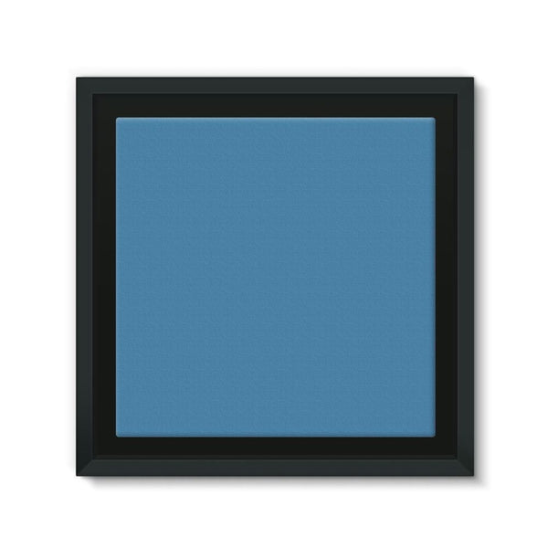 Boston Blue Framed Canvas 12X12 Wall Decor