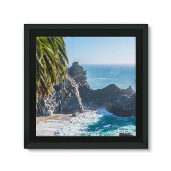 Breathtaking Tropical Beach Framed Canvas 12X12 Wall Decor