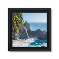 Breathtaking Tropical Beach Framed Canvas 14X14 Wall Decor