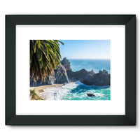 Breathtaking Tropical Beach Framed Fine Art Print 16X12 / Black Wall Decor