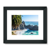 Breathtaking Tropical Beach Framed Fine Art Print 24X18 / Black Wall Decor