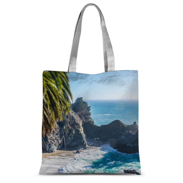 Breathtaking Tropical Beach Sublimation Tote Bag 15X16.5 Accessories