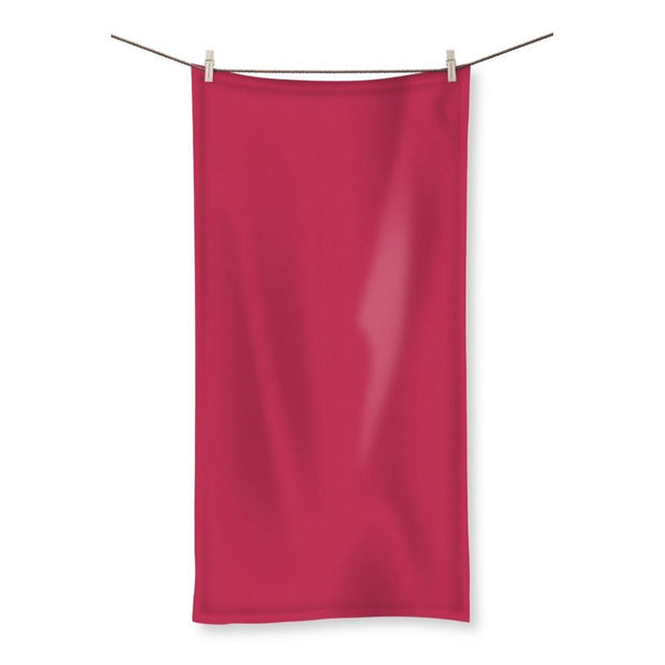 Brick Red Beach Towel 19.7X39.4 Homeware