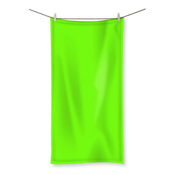 Bright Green Color Beach Towel 19.7X39.4 Homeware