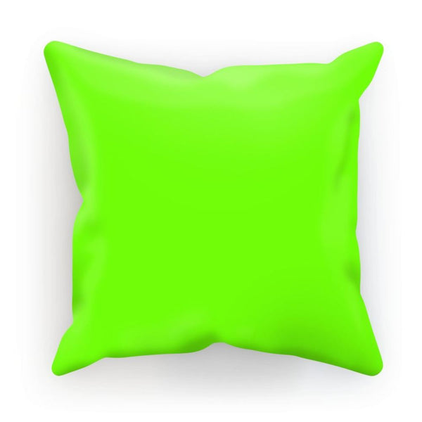 Bright Green Color Cushion Linen / 12X12 Homeware