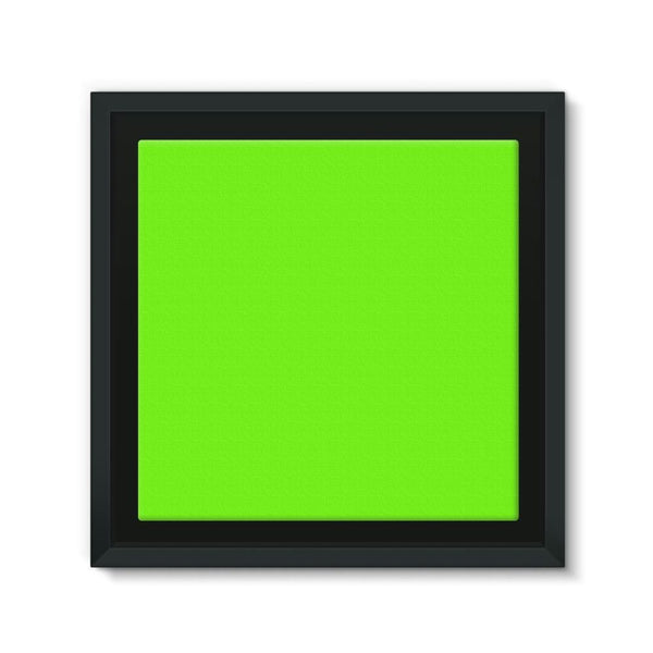 Bright Green Color Framed Canvas 12X12 Wall Decor