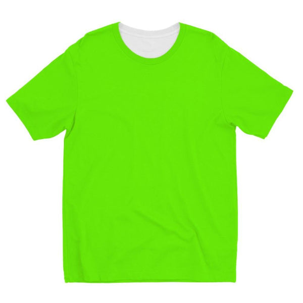 Bright Green Color Kids Sublimation T-Shirt 3-4 Years Apparel