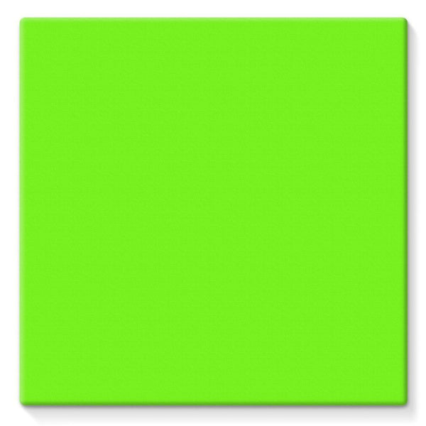 Bright Green Color Stretched Eco-Canvas 10X10 Wall Decor