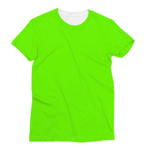 Bright Green Color Sublimation T-Shirt Xs Apparel