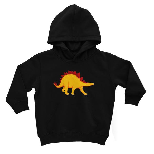 Bright Orange Dinosaur Kids Hoodie 3-4 Years / Jet Black Apparel