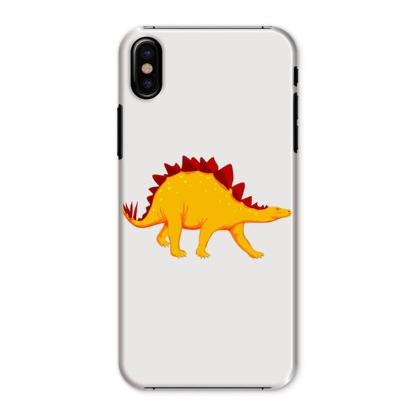 Bright Orange Dinosaur Phone Case Iphone X / Snap Gloss & Tablet Cases