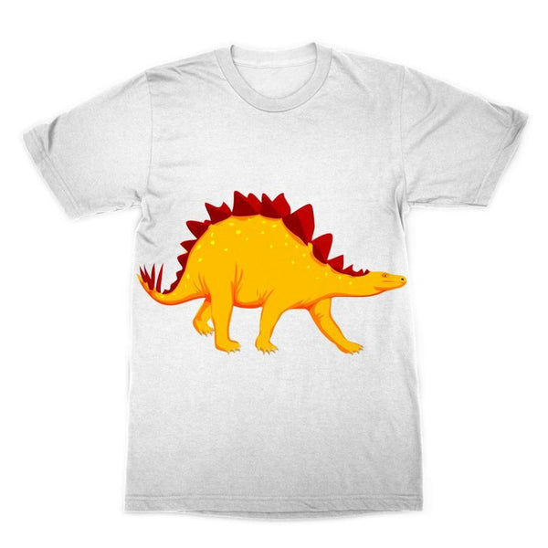 Bright Orange Dinosaur Sublimation T-Shirt Xs Apparel