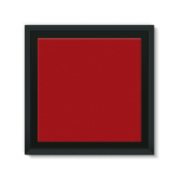 Bright Red Color Framed Canvas 12X12 Wall Decor