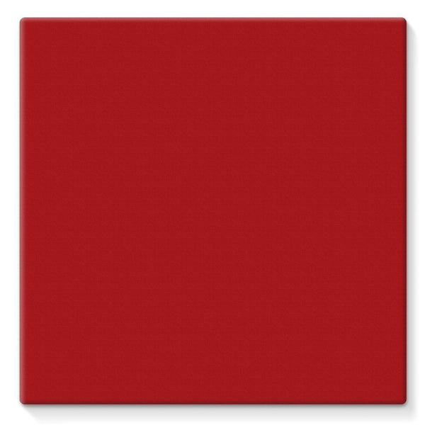Bright Red Color Stretched Eco-Canvas 10X10 Wall Decor