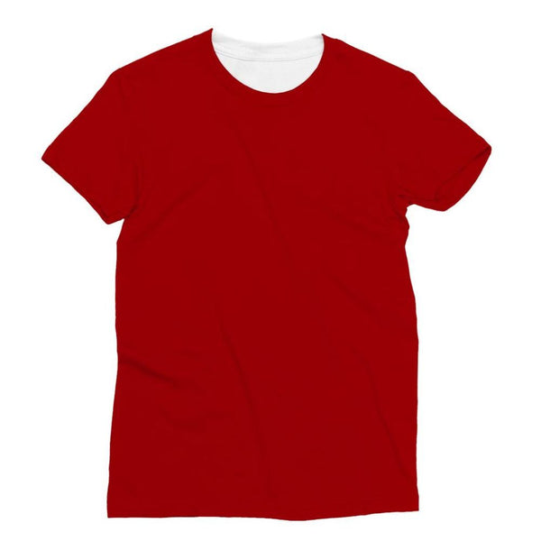 Bright Red Color Sublimation T-Shirt Xs Apparel