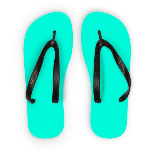 Bright Turquoise Color Flip Flops S Accessories