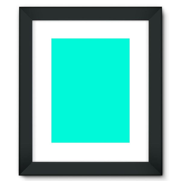 Bright Turquoise Color Framed Fine Art Print 12X16 / Black Wall Decor