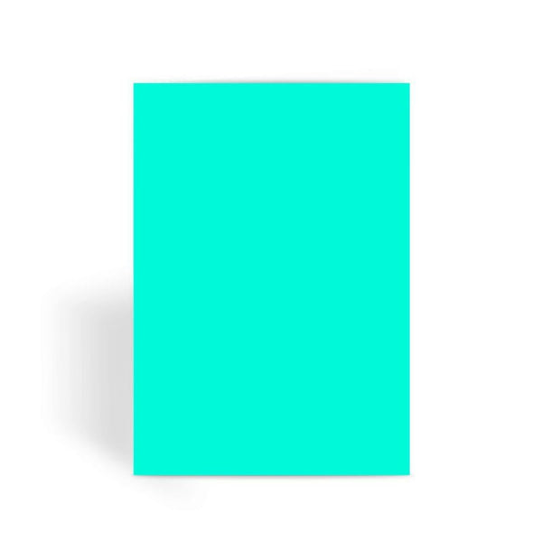 Bright Turquoise Color Greeting Card 1 Prints