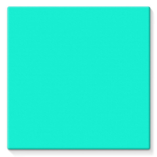 Bright Turquoise Color Stretched Canvas 10X10 Wall Decor