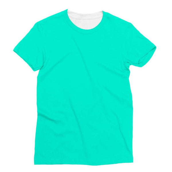 Bright Turquoise Color Sublimation T-Shirt Xs Apparel