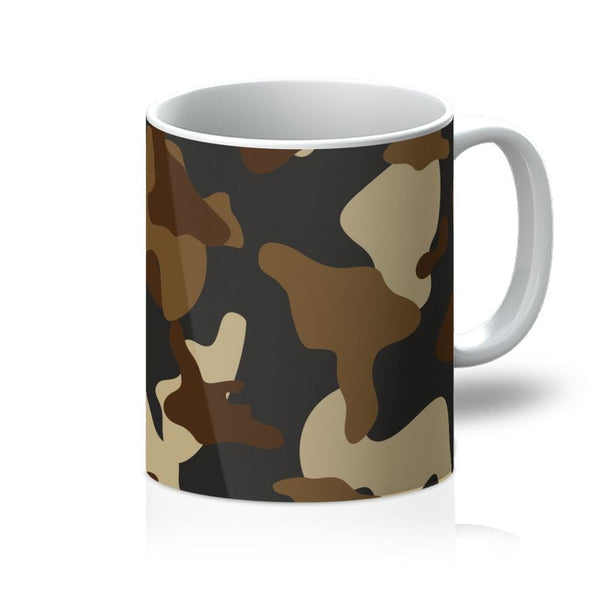 Brown Army Camo Pattern Mug 11Oz Homeware