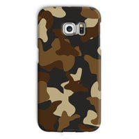 Brown Army Camo Pattern Phone Case Galaxy S6 Edge / Snap Gloss & Tablet Cases