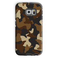 Brown Army Camo Pattern Phone Case Galaxy S6 Edge / Tough Gloss & Tablet Cases