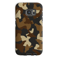 Brown Army Camo Pattern Phone Case Galaxy S7 / Tough Gloss & Tablet Cases