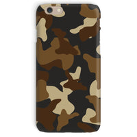 Brown Army Camo Pattern Phone Case Iphone 6 / Snap Gloss & Tablet Cases