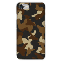 Brown Army Camo Pattern Phone Case Iphone 8 / Snap Gloss & Tablet Cases