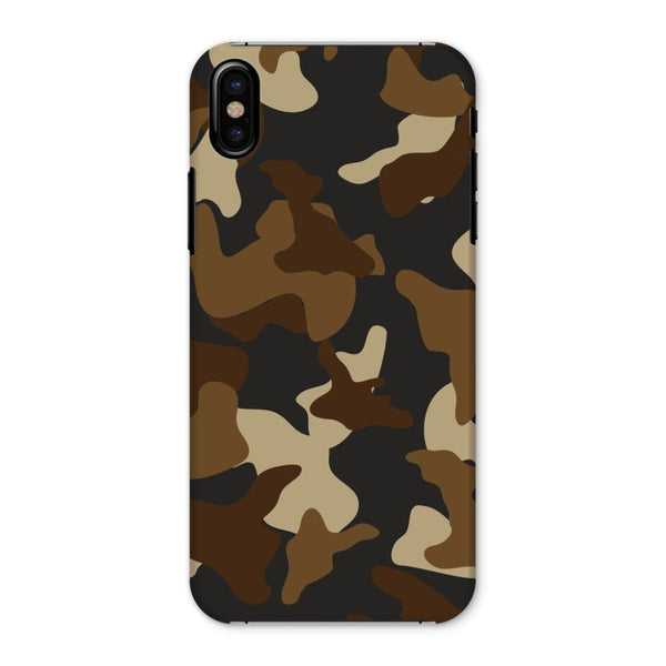 Brown Army Camo Pattern Phone Case Iphone X / Snap Gloss & Tablet Cases