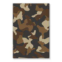 Brown Army Camo Pattern Stretched Eco-Canvas 24X36 Wall Decor