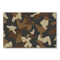 Brown Army Camo Pattern Stretched Eco-Canvas 36X24 Wall Decor