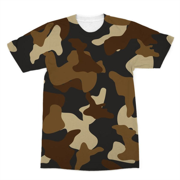 Brown Army Camo Pattern Sublimation T-Shirt Xs Apparel