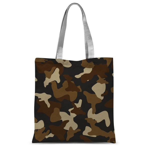 Brown Army Camo Pattern Sublimation Tote Bag 15X16.5 Accessories