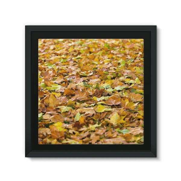 Brown Autum Framed Eco-Canvas 10X10 Wall Decor