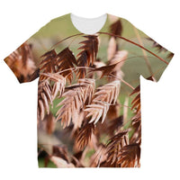 Brown (Dried) Plants Outdoor Kids Sublimation T-Shirt 3-4 Years Apparel