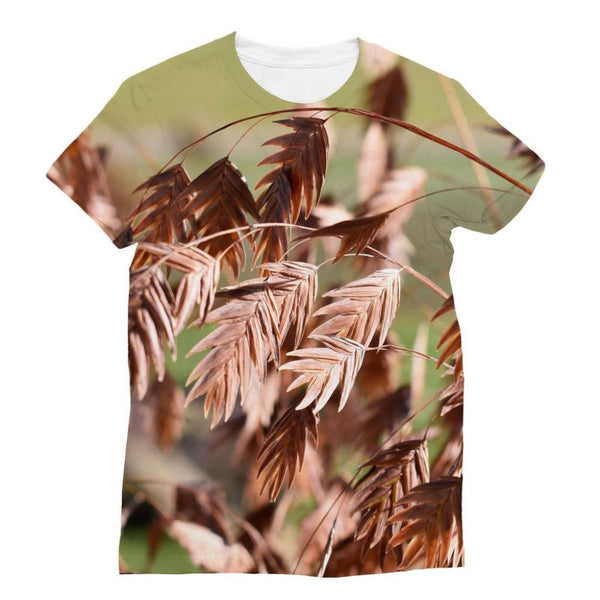 Brown (Dried) Plants Outdoor Sublimation T-Shirt S Apparel