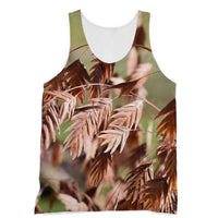 Brown (Dried) Plants Outdoor Sublimation Vest Xs Apparel