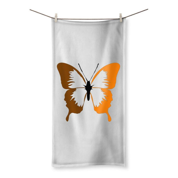 Brown Orange Butterfly Beach Towel 19.7X39.4 Homeware