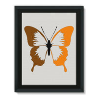 Brown Orange Butterfly Framed Canvas 12X16 Wall Decor