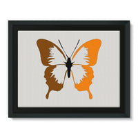Brown Orange Butterfly Framed Canvas 16X12 Wall Decor