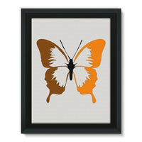 Brown Orange Butterfly Framed Canvas 18X24 Wall Decor